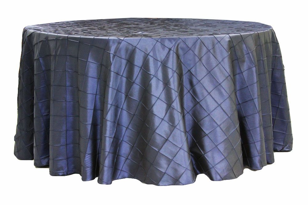 Pintuck 120 Round Tablecloth Navy Blue With Images Wedding