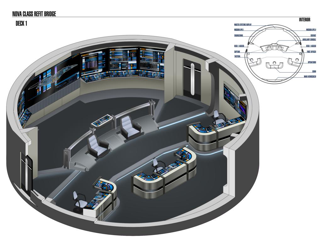 Bridge of nova class starships star trek nova class for Wohnung star trek design