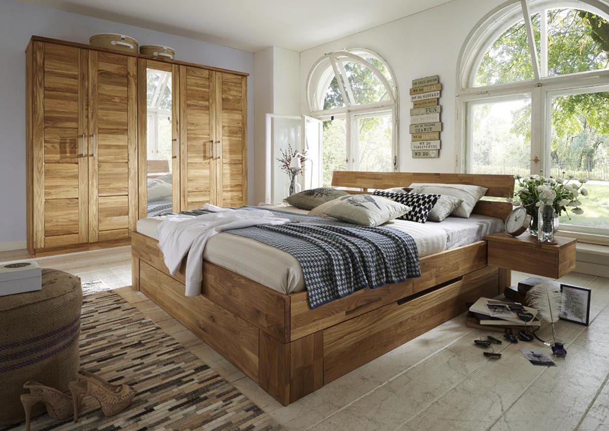 Schlafzimmer In Wildeiche Massiv Mit Schubkastenbett Modell Ponto Und Viele Weitere Komplettzim Schlafzimmer Bett Schlafzimmer Massivholz Luxusschlafzimmer