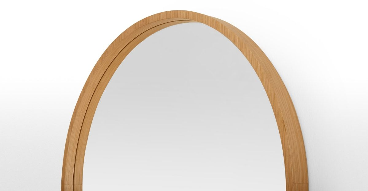 Wilson Runder Spiegel 80 Cm Eiche Made Com In 2020 Wandspiegel Rund Wandspiegel Runde Spiegel