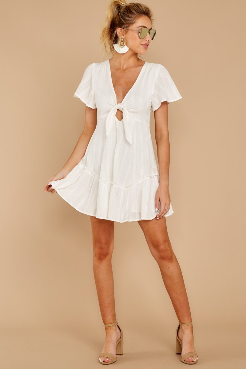 Don T Mess Around White Dress White Short Sleeve Dress White Short Dress White Flowy Dress