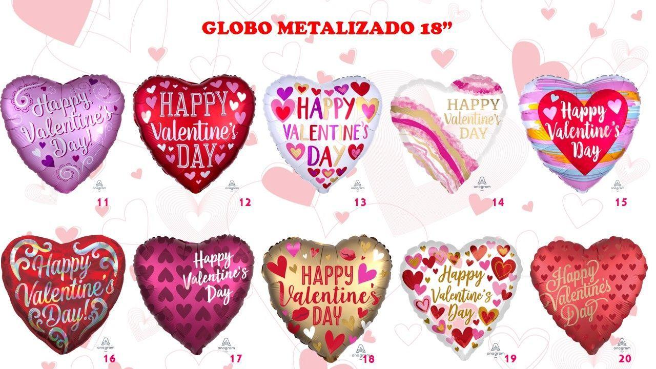 No Te Quedes Si Tus Globos Metalizados Para El Día De San Valentín Díadesanvalentín Globos Met Día De San Valentin Decoración San Valentín Globos