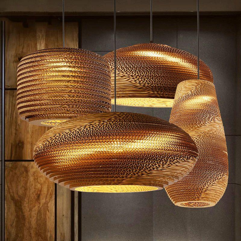 wellpappe lampenschirm moderne pendelleuchte kreative nordeuropa ikea leuchte e27 110 240 v. Black Bedroom Furniture Sets. Home Design Ideas