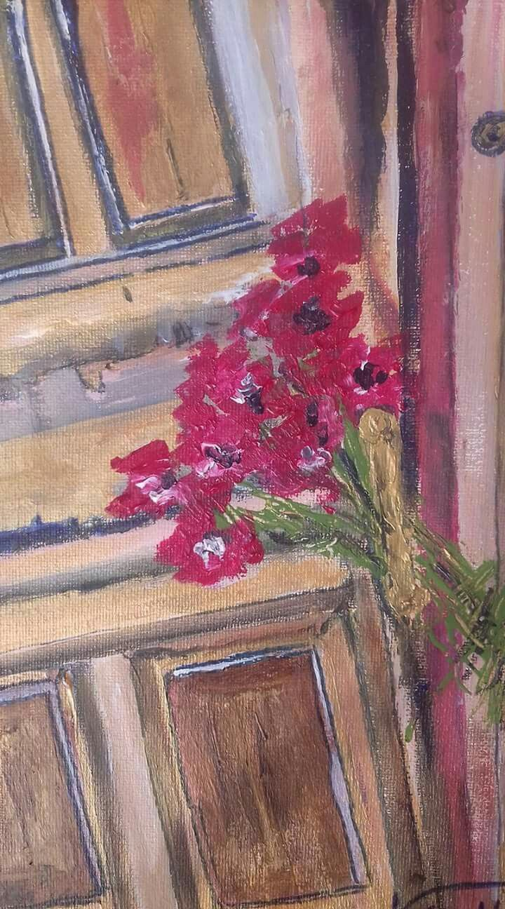 Acrylic on canvas door pinterest acrylics canvases and doors