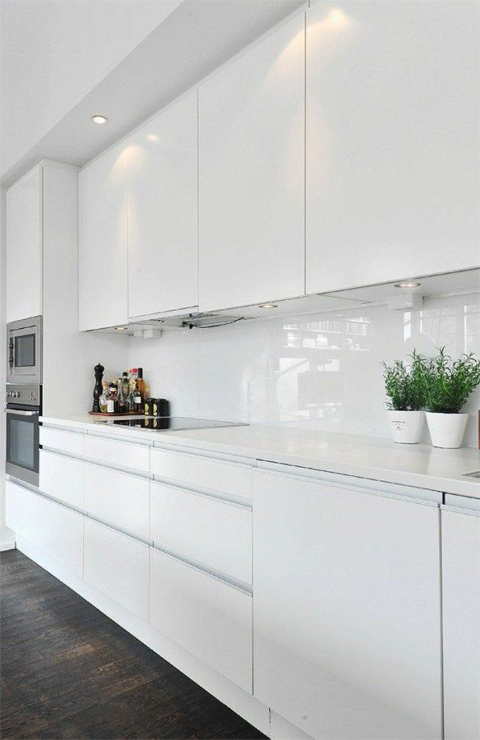 Küchenzeile Küche Hochglanz Weiß Norina 9555 kitchen Pinterest - küchen weiß hochglanz