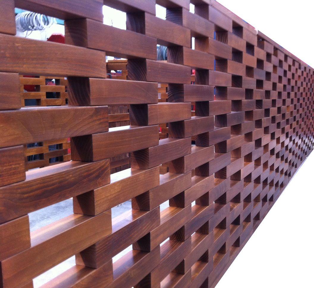 Tablero muro plafones de madera separador de ambientes - Tabiques separadores de ambientes ...