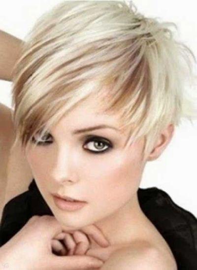 Brown Pixie Cut With Platinum Lowlights Hair Styles Pinterest