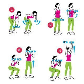 упражнения для рук с гантелями для женщин: 14 тыс ...