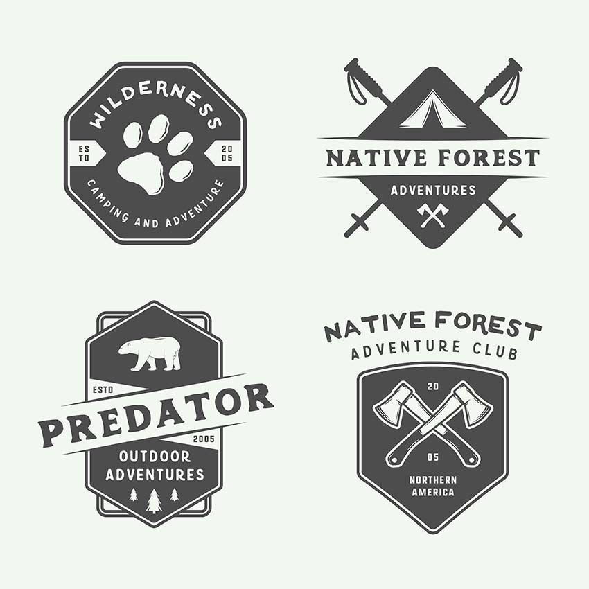 camping and adventure logos logo templates pinterest logos