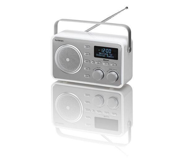 Buy SANDSTROM SDABXRL13 Portable DAB Bluetooth Clock Radio U2013 Silver | Free  Delivery | Currys