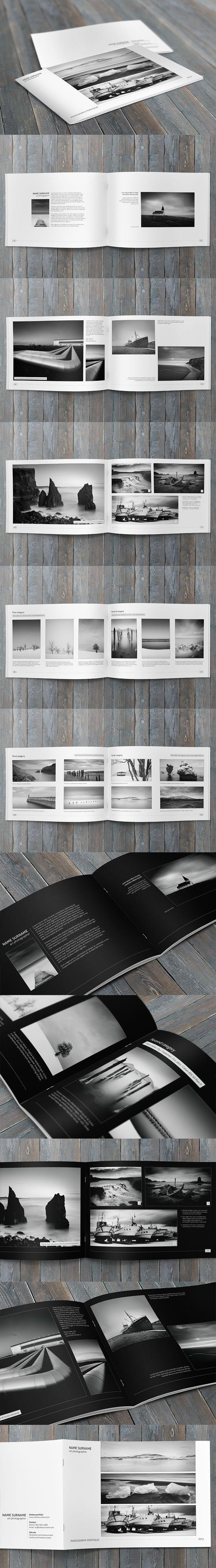 Minimalfolio Photography Portfolio A4 Brochure by Przemyslaw S, via Behance