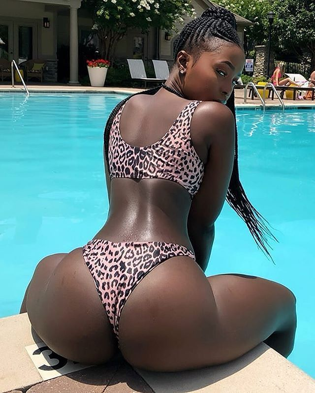 Ass black booty ebony