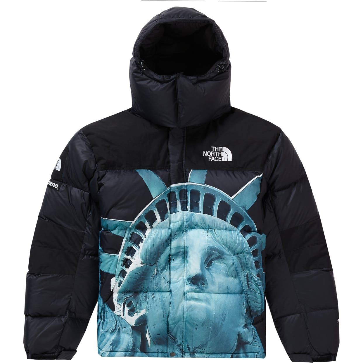 Check Out The Supreme The North Face Statue Of Liberty Baltoro Jacket Black Available On Stockx North Face Jacket Black White Tees Jackets