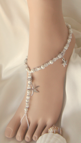 how to make foot jewelry for beach wedding beach barefoot sandals