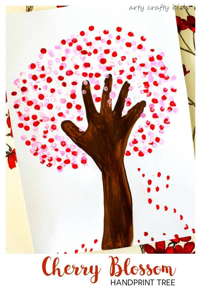 Cherry Blossom Handprint Tree #fridayfunday