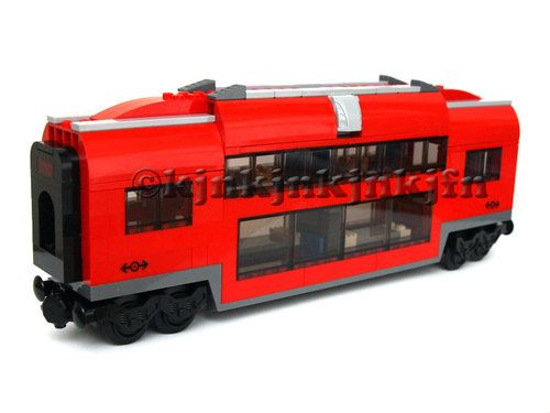 Custom Lego City Passenger Train Club Car Carriage Wagon For 7938
