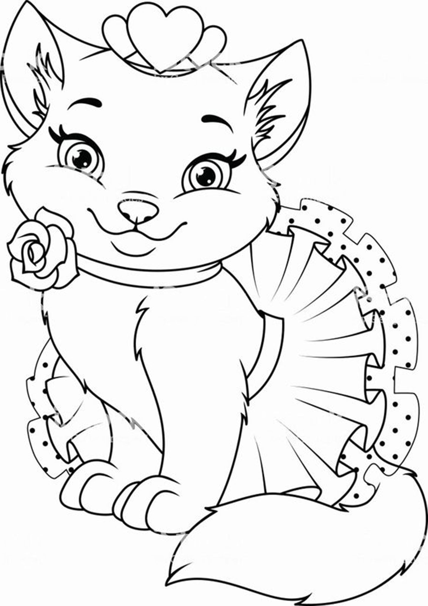 Free Easy To Print Kitten Coloring Pages Animal Coloring Pages Cat Coloring Page Cat Coloring Book