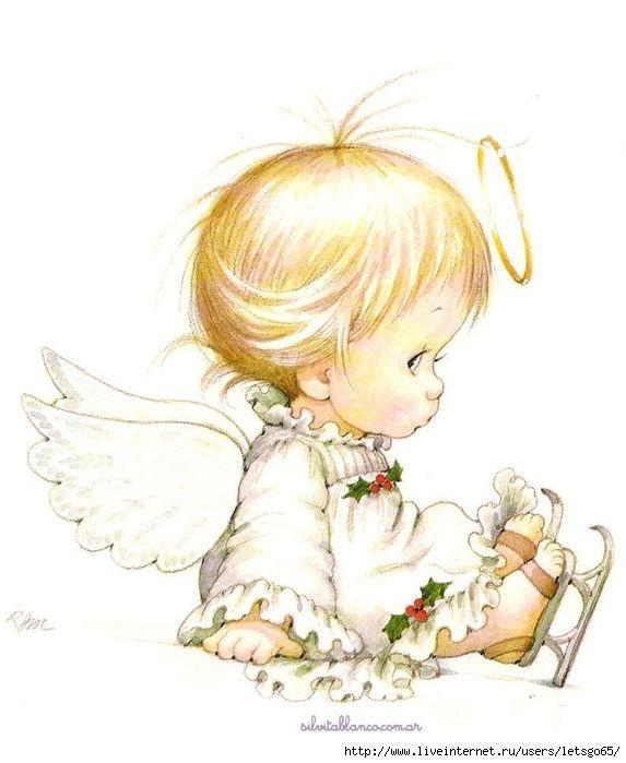 Рисунок, ангелочки младенцы рисунок