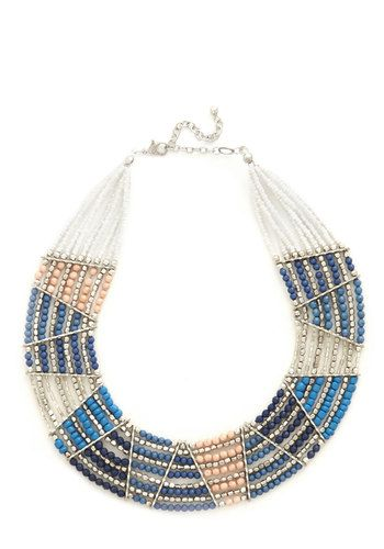 Striking Bold Necklace - Multi, Beads, Statement