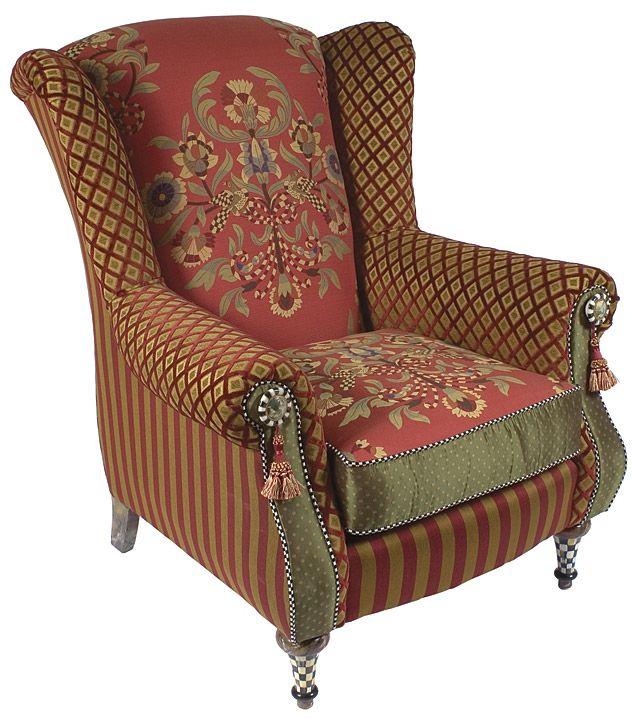 overstuffed wingback chair. Wingback Chair - Overstuffed R