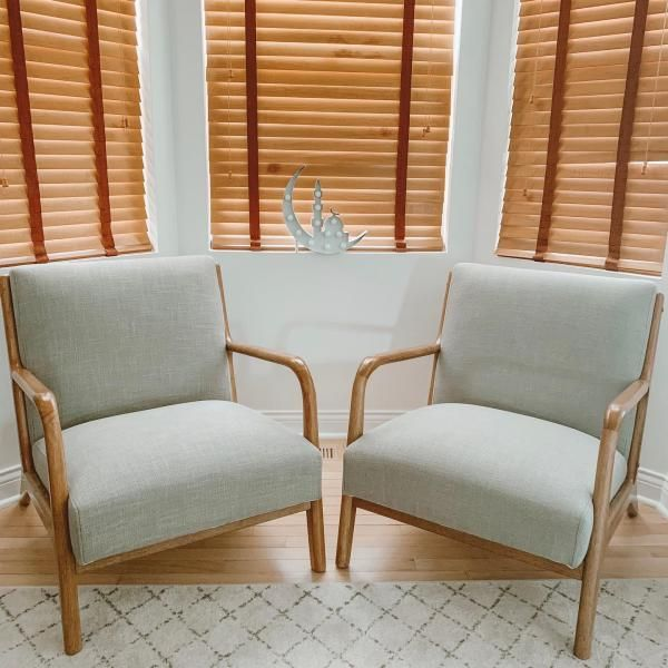 Esters Wood Arm Chair Cream Natural Wood Project 62 In