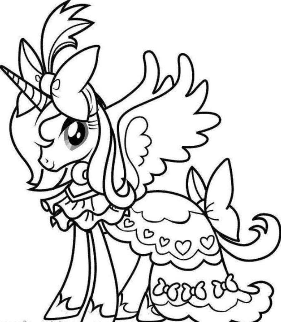 unicorn rainbow coloring pages 03