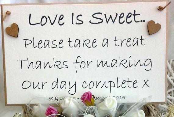 Love is Sweet Please take a treat  Personalised by AandFCrafts