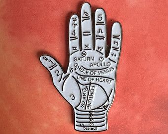 The Practice of Palmistry Art Print by stoneandviolet on Etsy