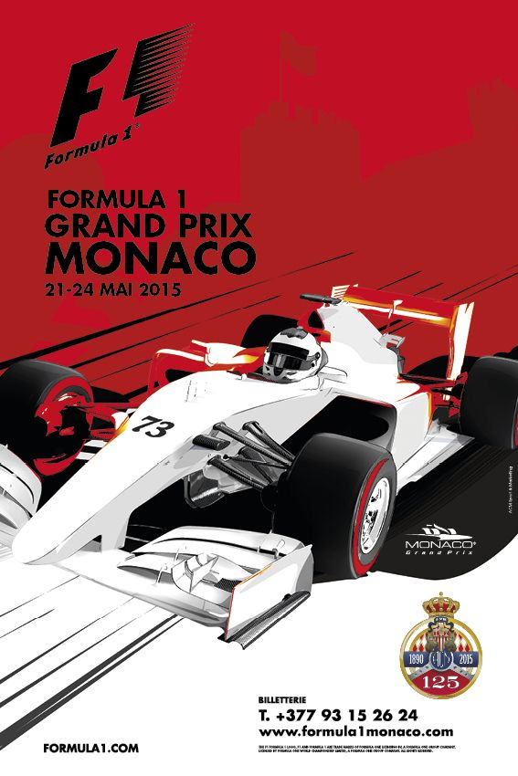 automobile club de monaco grand prix de monaco f1 gp f1 monaco pinterest affiches grand. Black Bedroom Furniture Sets. Home Design Ideas