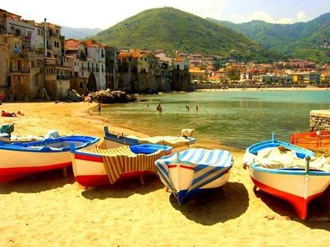 Cefalu Beach in Sicily