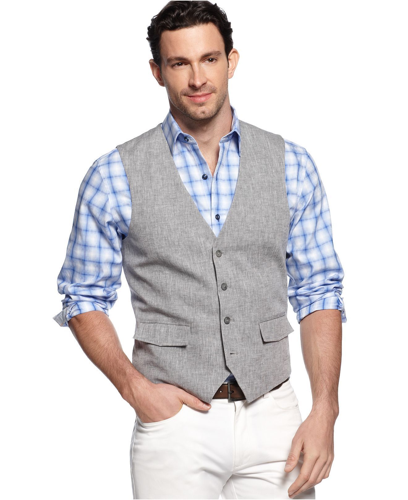 Gray Vest For Mismatch Groomsmen Different Pants Guys