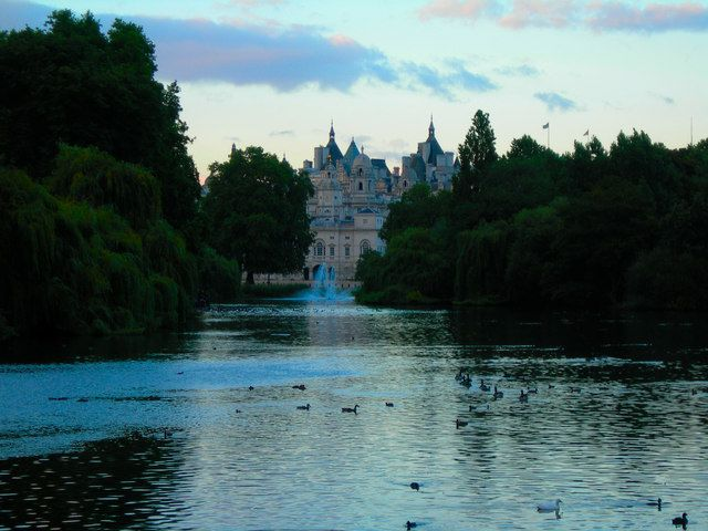 Lake in St James Park by Danny Robinson, via Geograph