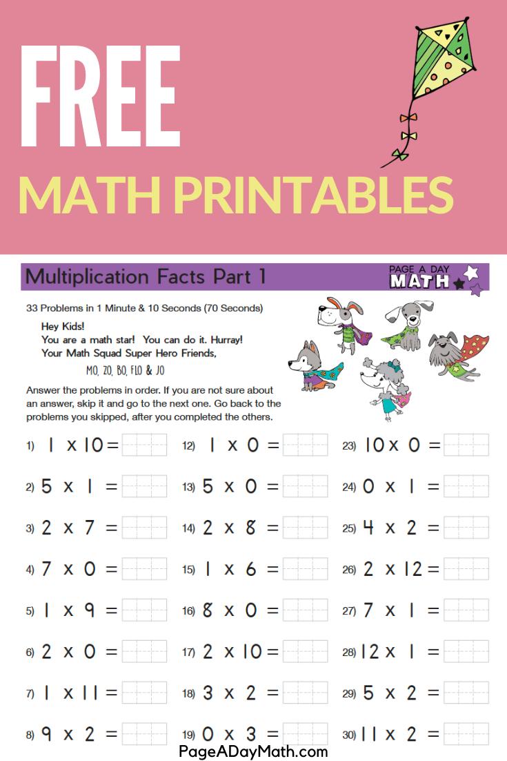 Math Fluency System Sampler For Pre K Kindergarten 1st 2nd 3rd 4th Grades Free Math Math Printables Free Math Printables [ 1102 x 735 Pixel ]