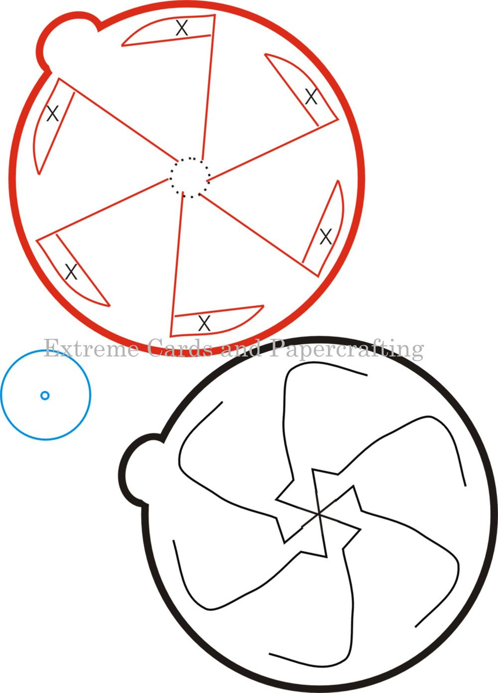 Template For A Rotating Pop Up Mechanism  Paper Pop Template And