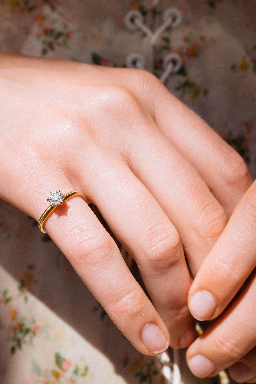 Vintage Tiffany & Co. 18K Gold Engagement Ring Circa 1900   Vintage ...