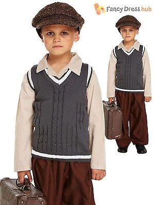 Evacuee boy #fancy dress ww2 1940s #child kids boys world war 2 ve ...