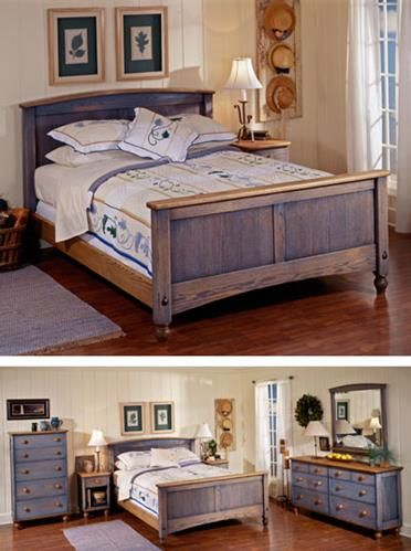 country-fresh solid-oak bed woodworking plan, furniture beds