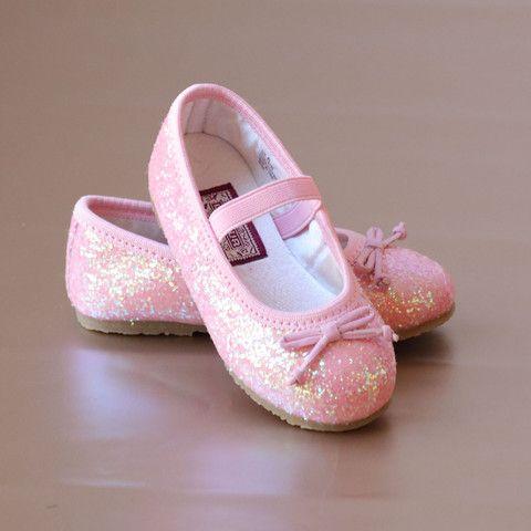 L'Amour Girls Glitter Ballet Flats – Petit Foot