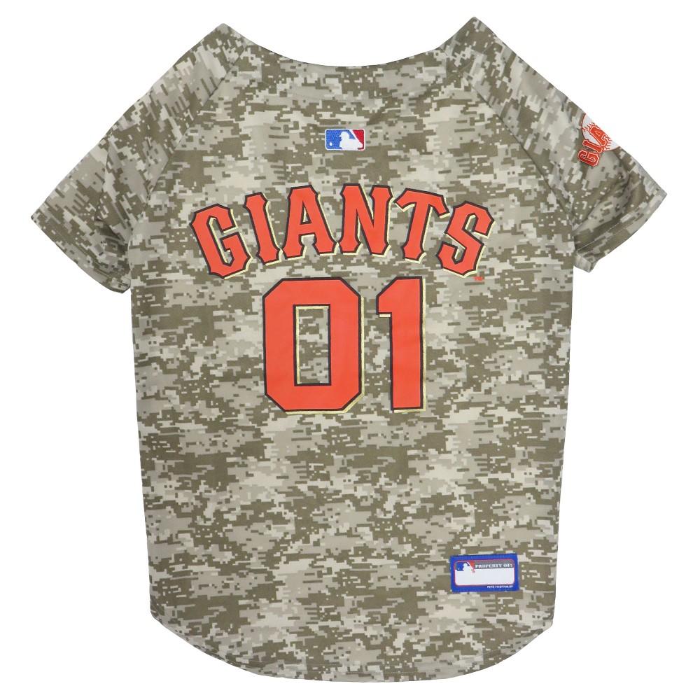 56ce337b08b MLB San Francisco Giants Camouflage Pet Jersey - X Large