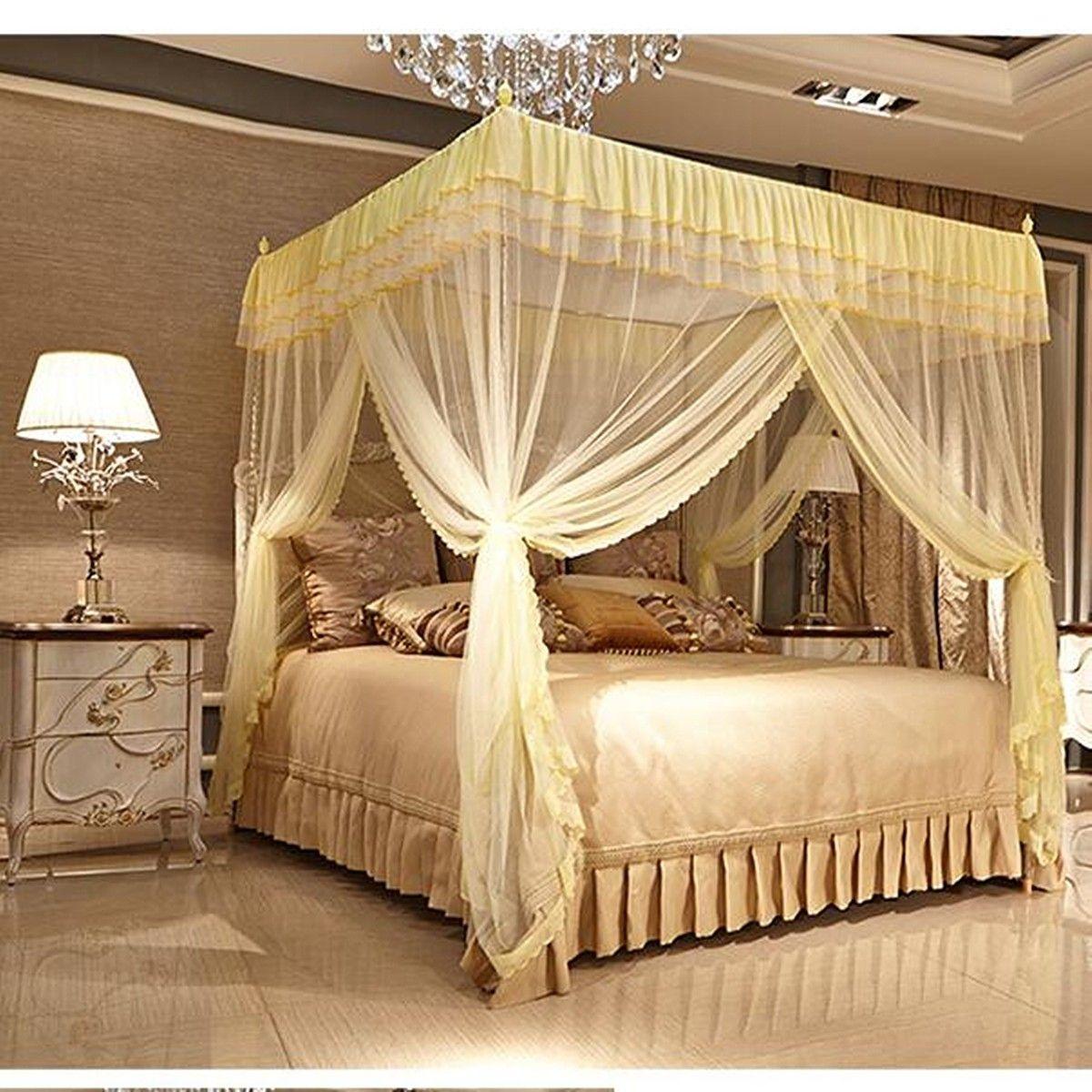Vorhänge · Betten · Bettwäsche · 1.cortina De 5x2m Cuadrados Mosquito Anti  Ropa De Cama Neta De Tres Puertas Abiertas