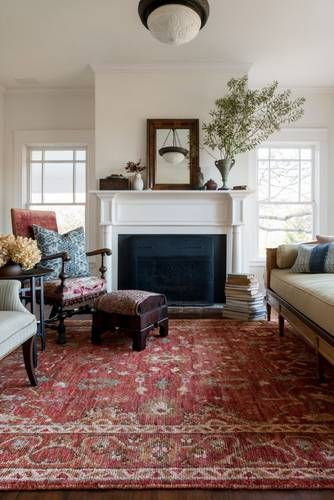 Empress Red Area Rug | decor | Rugs in living room, Living room ...