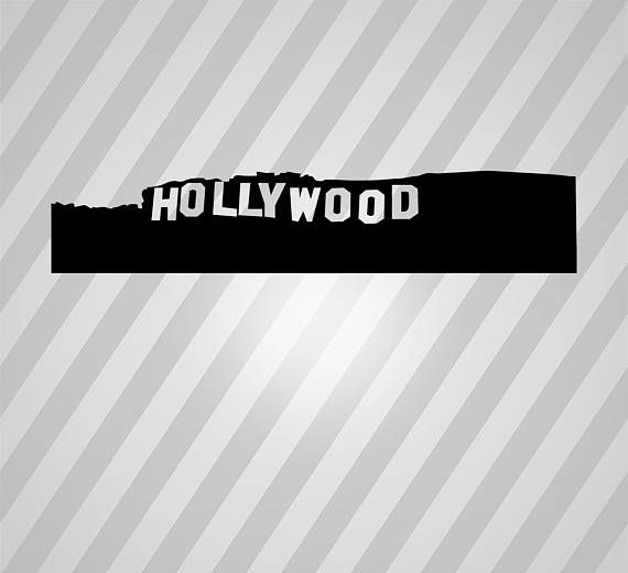 Hollywood Silhouette Sign Svg Dxf Eps