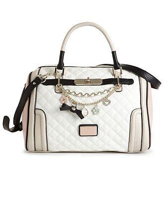 GUESS Handbag, Amour Box Satchel - Satchels - Handbags ...