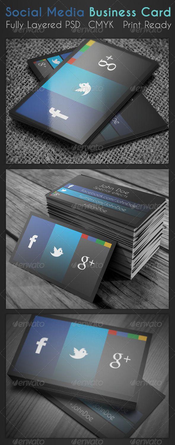 Social media business card business card s e l e c t i o n social media business card reheart Choice Image