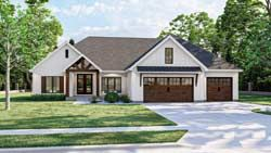 Modern farmhouse House Plan 3 Bedrooms 2 Bath 2389 Sq Ft Plan 52 511