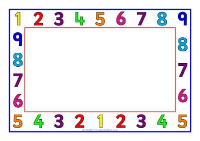number a4 page borders sb11412 sparklebox bordes