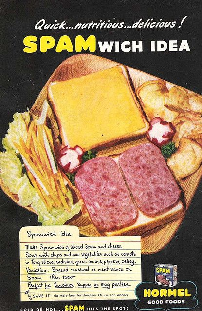 1940's SPAM Ad | Recipes from the past | Spam recipes