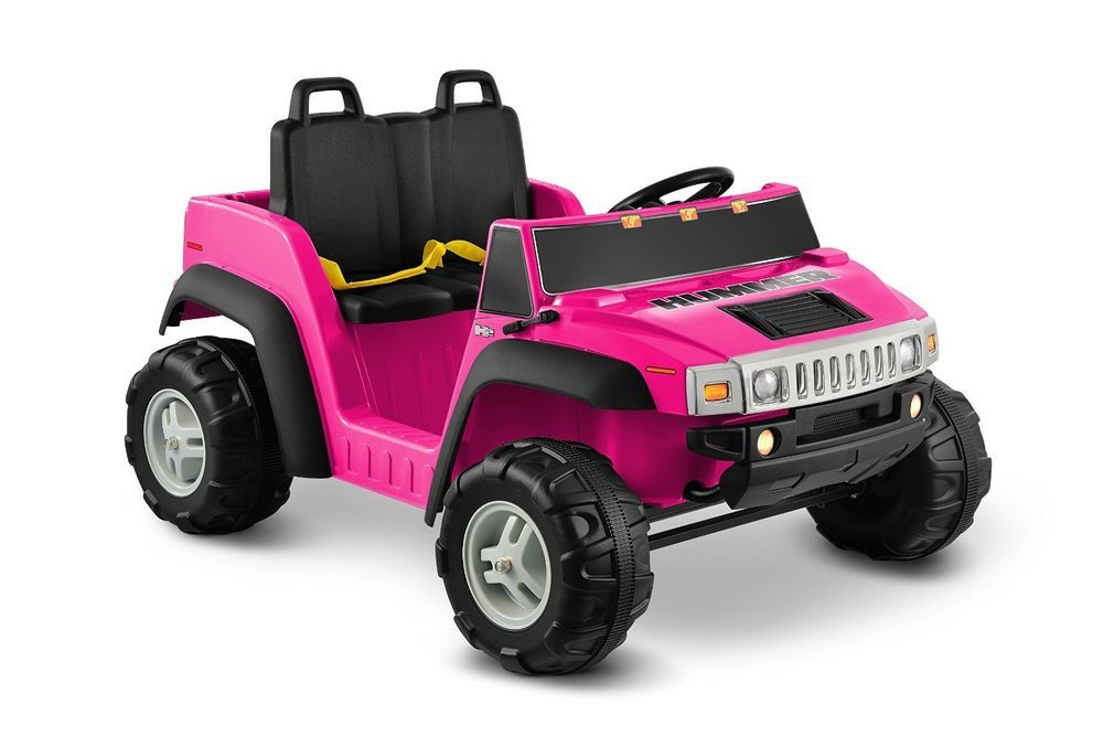 Ride On Toys Hummer H2 12v Electric Car For Kids Pink Two Seater Girl Xmas Gift Kidmotorz