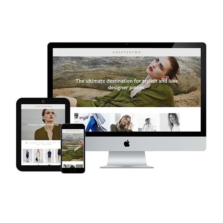 """L A U R E N S T A N T O N on Instagram: """"WEB DESIGN A little something I'm working on for the gorgeous ladies over at @chaptertwo_boutique 🙌 Clean 