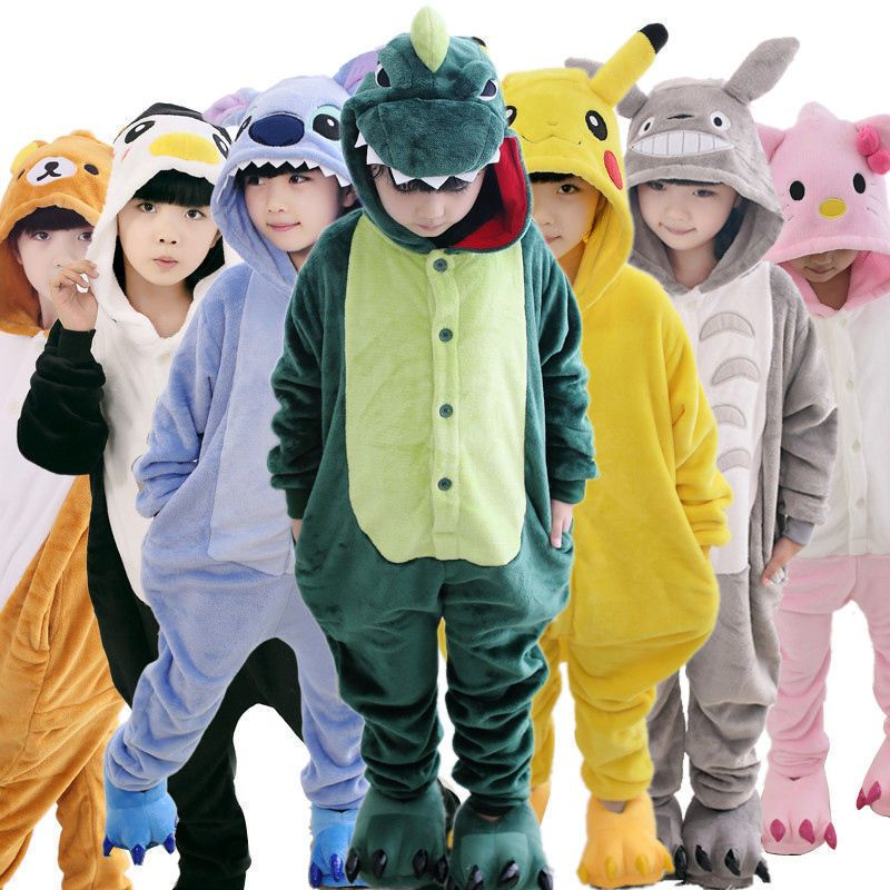 b6058a6b728 Kid Boys Girls Pajamas Kigurumi Unisex Cosplay Animal Costume Jumpsuit  Nightwear  pikachu  pokemon  funkopop